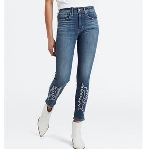 Levi's high rise embroidered skinny jeans